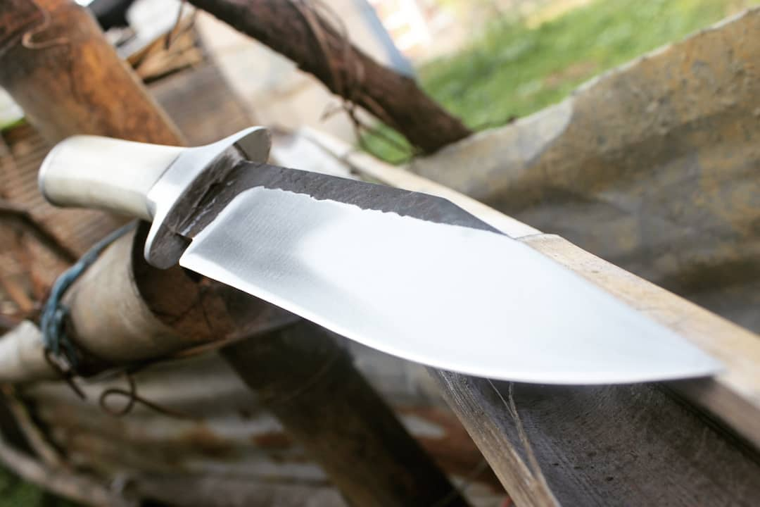 kailashnraw finish bone handle bowie